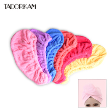 1pc Magic Hair Towel Women Quick Dry Hair Drying Towel Makeup Cap Microfiber Fabric Head Wrap Hat Bathing Bath Tool Salon Towel(China)