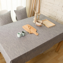 Burlap Linen Vintage Solid Color Grey Coffee Ivory Table Cloth Cover  Home Hotel Cafe House Party Home Decoration