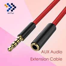 WMZ Aux Stereo Cable for Headphone Audio Extension Cable WMZ Jack 3.5mm Male to Female for Computer Headphone iPhone DVD MP3/4(China)