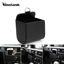 Car Organizer Car Outlet Air Vent Trash Box Car Pocket Mobil Phone Case Air Outlet Hanging Storage Organizer For Phone Keys(China)