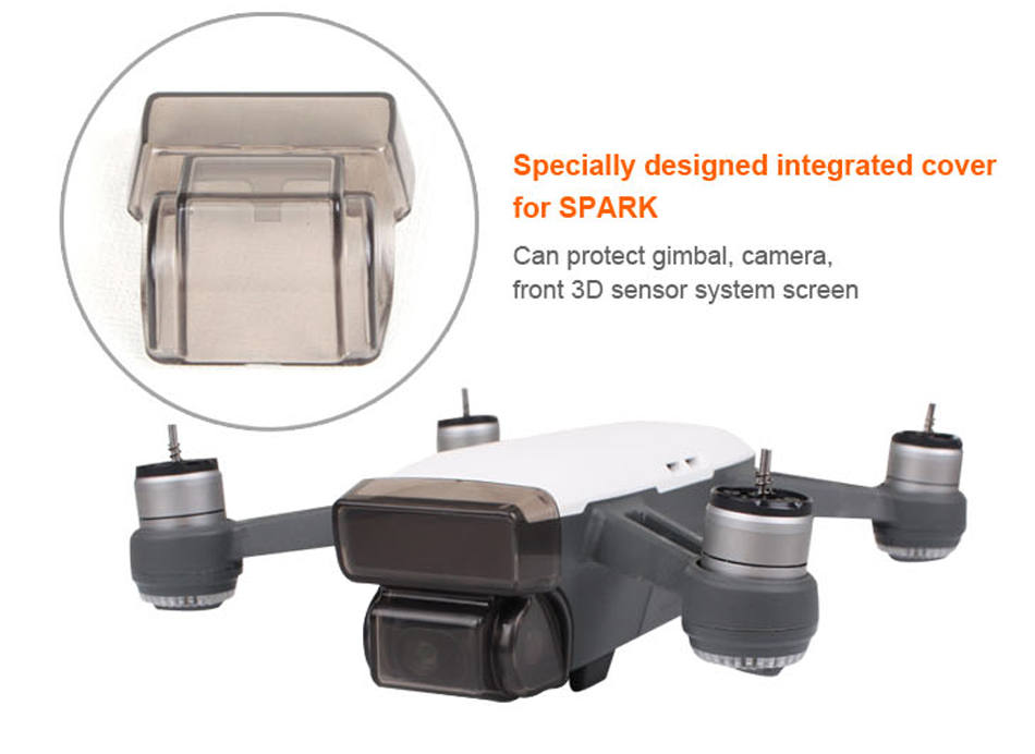 Camera Front 3D Sensor System Screen Cover Integrated Protective Cover protect for DJI SPARK