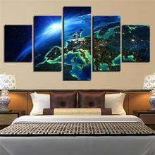 Buy Hd Printed Canvas Poster Frame Home Decor Wall Art 5 Pieces Space Earth Surface Landscape Living Room Painting Modular Pictures for $9.35 in AliExpress store