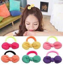 8 Pcs/ lot Adorable Bow Girls' Candy color Hair ties Holder for Women Hair Accessories