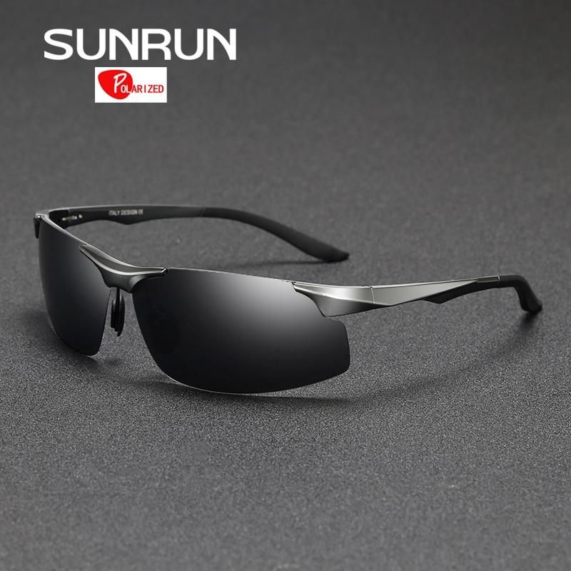 SUNRUN Polarized Sunglasses Men Aluminum Magnesium Mirror Sports Sun Glasses Driving Goggles Eyewear for Male gafas de sol 8003<br><br>Aliexpress