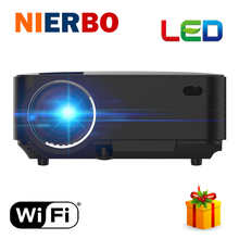 Cheap Android Projector Red Blue 3D video movies HDMI Projector 1920x1080P Analog TV LED Beamer Wifi Projector for Home Cinema