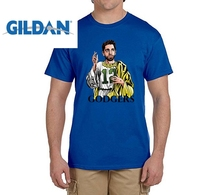 GILDAN New god AARON RODGERS Godgers t shirts Mens gift T-shirts for packers fans(China)