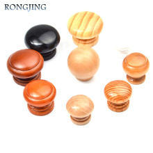 5x Wooden Kitchen Cabinet Drawer Knobs Mushroom Cupboard Handles Closet Cabinet Bars Superba Bedroom Wardrobe Solid Wood Pulls(China)