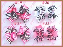 "Free shipping 2017 Newest 120pcs 4.5"" twist hair bows Girl Boutique hair bows two tone windmill Hair Bows"