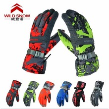 Women Men Ski Gloves Snowboard Gloves Snowmobile Motorcycle Riding Winter Gloves Windproof Waterproof Unisex Snow Gloves(China)