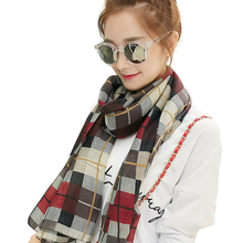 Scarf Women Cotton Scarf Plaid Fall Fashion Thin Shawl High Quality Female Brand Design Silk Stoles Autumn Women's Foulard