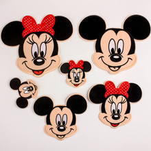 Mickey Minnie Sweater Baseball Jacket Cloth Patches For Clothing Iron On Embroidered Appliques DIY patch Fine embroidery badges(China)