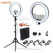 "fosoto Camera Photo/Studio/Phone/Video RL-18"" 55W 240 LED Ring Light 5500K Photography Dimmable Ring Lamp With Mirror/Tripod(China)"