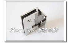 Free Shipping, 304 Stainless Steel 90 degree shower hinge,glass clamp,shower clamp, Mirror finished, Easy installation,durable(China)
