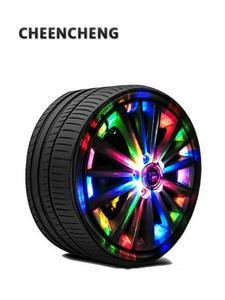 Decorative-Lamp Car-Wheel-Hub-Light Ambient-Lights Neon Atmosphere Auto-Tuning Solar-Energy