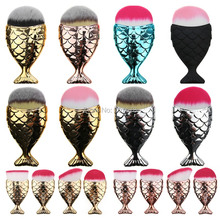 2017 Fashion Mermaid Makeup Brushes Powder Blush Foundation Cosmetic Tools Fish Brush Contour BB Cream Make up Brushes