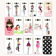 Lavaza 371G Vestido Moda Shopping Girl Caso Capa Dura para Samsung Galaxy borda Mais S2 S3 S4 S5 S6 S7 S8 Mini tampa do caso