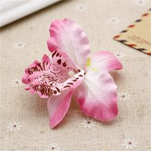 20pcs Silk Butterfly Orchid Artificial Flower  Wedding decoration Head For Wedding Car Home Decoration Cymbidium Flowers Plants