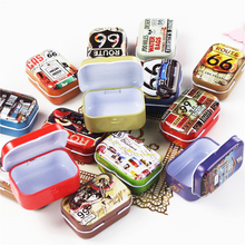 New Arrival 8 Piece/Lot Tin Storage Box Motorcycle Mac Makeup Cosmetic Organizer Mini Metal Container For Tea Pill Gift For Boy