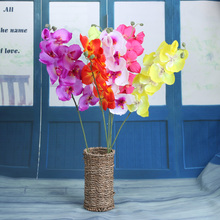 Free Ship Decorative Orchid Artificial Flowers For Wedding Craft Decoration DIY Wreath Craft Flower Home Table Decal