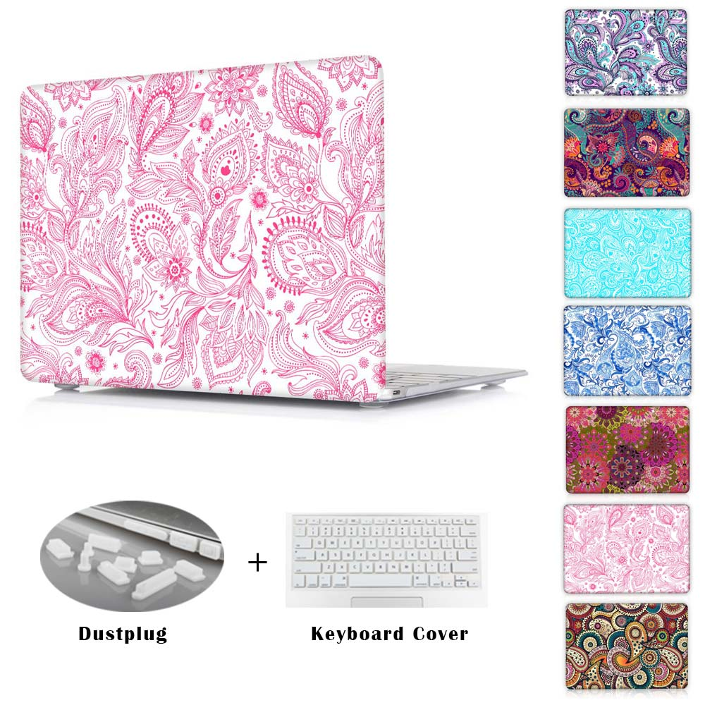 Flower Vintage Paisley Pattern For Mac Case Air 11 13 Macbook Pro Retina 13 15 New Retina 12inch Hard Crystal UV Printed Case<br><br>Aliexpress