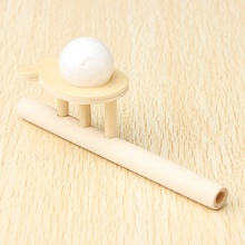 Newest Wooden Floating Ball Game Blow Educational Toys For Children Wood Pipe Balancing Ball Game Funny Sports Baby Toys