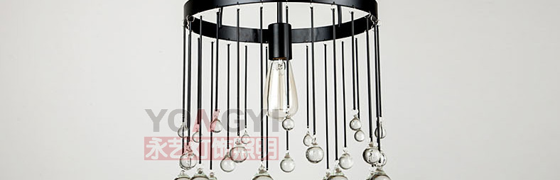 Modern Iron Cage Pendant Light Hallway Restaurant Study Balcony Bedroom  Living Room Fashion Rural Round K9 Crystal Lamps ZA   Us469