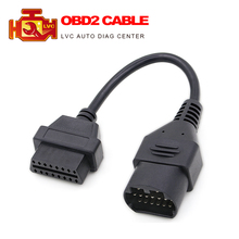 High Quality for Mazda 17Pin to 16Pin OBD2 OBD II Cable Connector cable for Mazda 17 pin OBD 2 connect adapter(China)