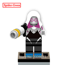 Spider-Gwen Single Sale Marvel Comics Super Heroes The Amazing Spider-Man Models & Building Toys Blocks For Children