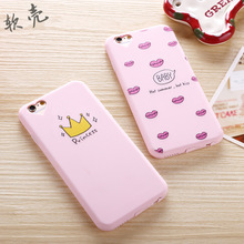Phone Cases for iPhone 6 7 Plus Case i6 Plus 5S SE Cover for Apple 5S Soft Silicone Pink Princess Transparent Brand Coque bags