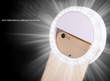 Hot Sale Luxury New Universal LED Flash Light Up Selfie Luminous Phone Ring For iPhone SE 5 6 6S Plus LG Samsung HTC LG(China)
