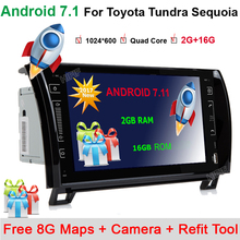 "9"" Android 7.11 Car Radio Audio DVD GPS Navigation Central Multimedia for Toyota Sequoia Tundra 2007 2008 2009 2010 2011 2012"
