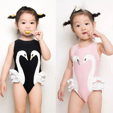 New Style Cute Baby Girl Clothes Flamingo Swan Lace Sleeveless Romper Jumpsuit Playsuit Baby Clothing Outfits