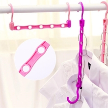 Doreen Box 39x5.8cm Creative Clothes Rack Travel Portable Hanger Multifunctional Drying Racks Clothing Storage Hanger At Random(China)