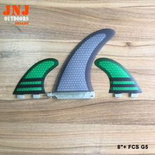 "Hot sales made in china sup paddling board fin set system 8"" centre fin and 2 fcs G5(China)"