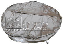 Customized spa cover skin only round 186cm dia, 10cm thickness vinyl any size, shape, swim spa cover leather(China)