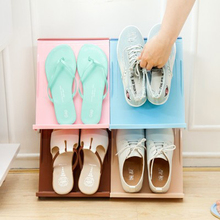 2017 New Color Multifunctional Mosaic Superimposed Shoe Rack Can Be Hanging Stereo Shoes Magazine Storage Rack