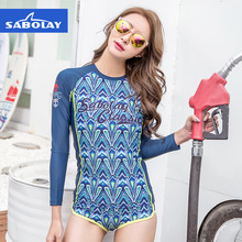 SABOLAY Rash Guard Women Surf shirts Jellyfish UV Protection Quick-drying Surfing Wetsuit Guards Surfing Protection Short Pants(China)