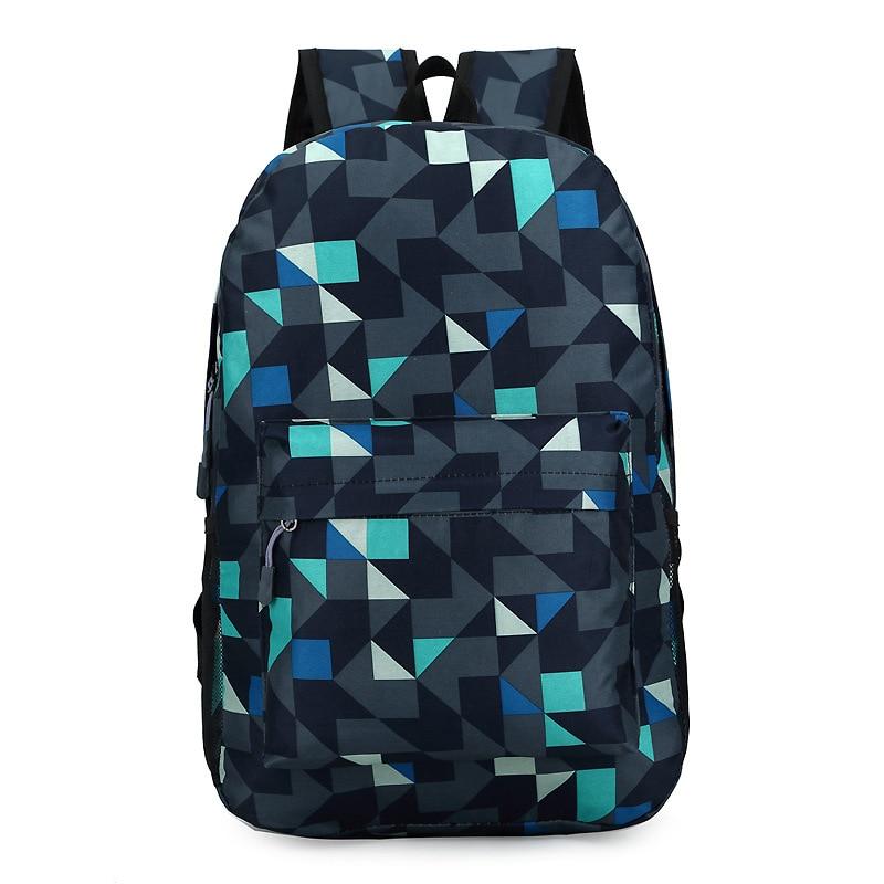 2017 Backpack Men Nylon Waterproof Famous Brand Students Cool Back Pack Geometric Patchwork Diamond Lattice Mochila Sac A Dos<br><br>Aliexpress