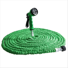 125FT Magic Expandalble Garden Hose Water Pipe Drip Irrigation Supplies Water Hose Car Watering Connector with 7 Modes Spray Gun(China)