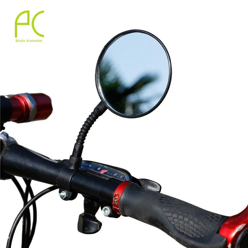 Black Rotatable Road MTB Bike Bicycle Mirror Handlebar Rear View Rearview New