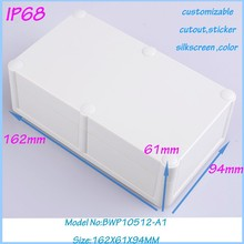 4 pcs/lot outdoor cable box plastic box with hinged lid rubber enclosure 162X61X94MM