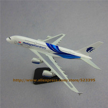 20cm Metal Airplane Model Blue Air Malaysia Airlines Airbus 380 A380 Airways Plane Model W Stand Aircraft Gift(China)