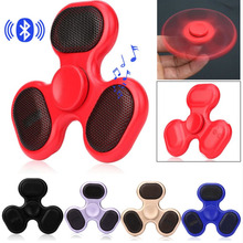 Best gift Bluetooth Finger Spinner Speaker Music Hand Spinner player Portable Outdoor bluetooth altavoz for iPhone xiaomi(China)