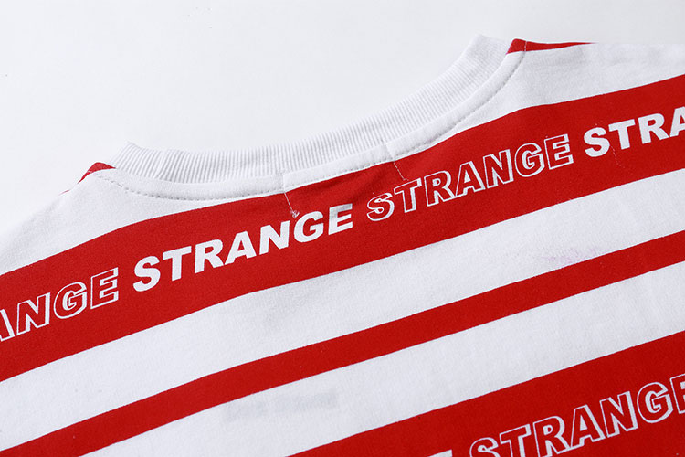 Striped Full Letter TShirts 10
