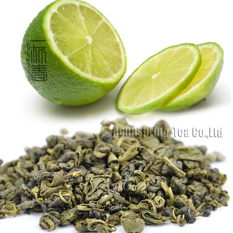 250g,Lemon Flavor Green Tea,Early Spring Fruit flavor Biluochun,Reduce weight tea,CTX613