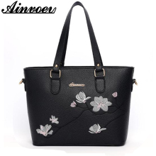 Ainvoev Fashion Women Bag 2017 New Arrival Handbag National Bag With Embroidery Flowers Message Bags For Girls a1928