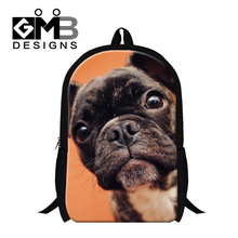 Dispalang 2017 cute dog puppy backpacks for primary students large back pack for children animal customized design women bagpack