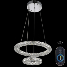 Dimmable Lustre Crystal Pendant Lights Modern Pendant Light Stainless Steel Lighting Cystal Lamps for Home  CE FCC ROHS VALLKIN