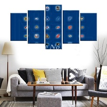 New Modern Home Artwork Poster Picture basketball Canvas Unframed Popular Team Members 5pieces Painting Bedroom Hockeys the UK
