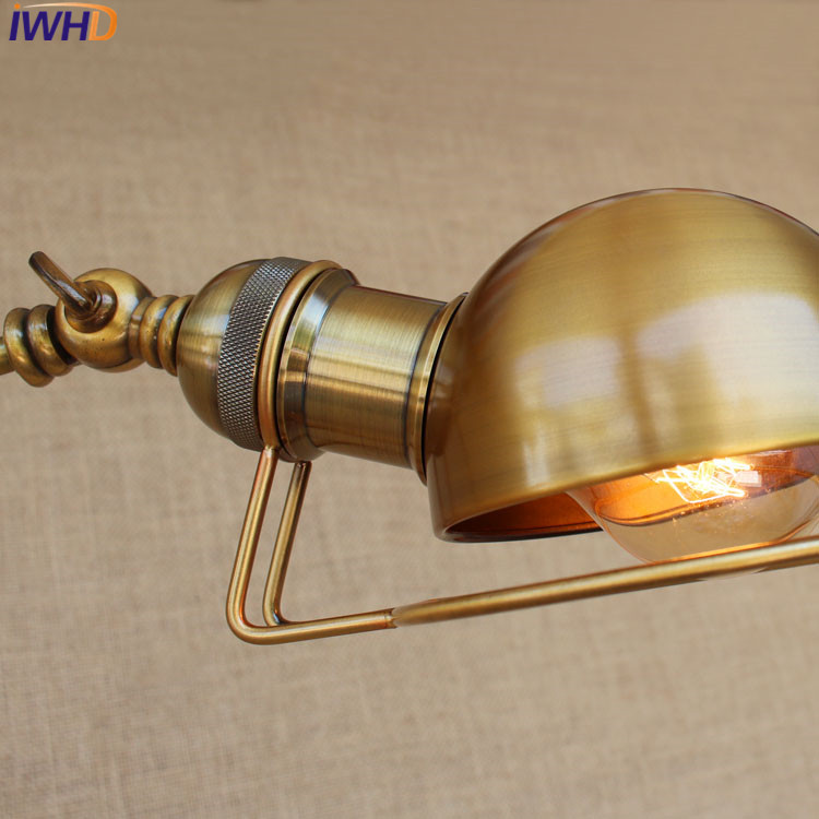 Edison With Retro Led Long Iron Lamp Industrial E27 Loft Bulb Wall Bqaw0x10Y